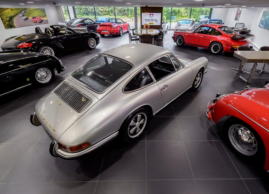 Paragon Porsche Showroom wth Glidefield Air Conditioning.